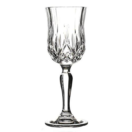 Lorren Home Trends Opera Liquor Glass Set (Set of 6), Clear