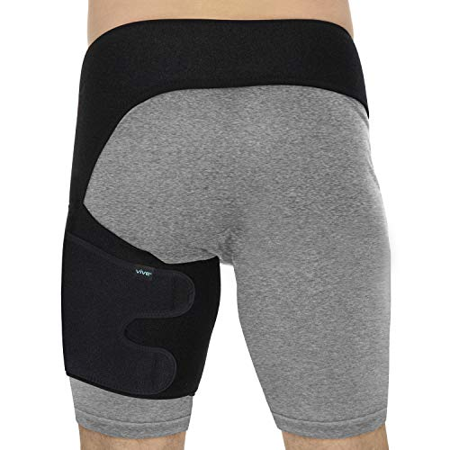 Vive Groin and Hip Brace - Sciatica Wrap for Men and Women - Compression Support for Nerve Pain Relief - Thigh, Hamstring Recovery for Joints, Flexor Strains, Pulled Muscles, Quadricep PT