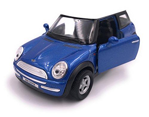 H-Customs Mini Cooper modelauto miniatuur auto gelicentieerd product 1:34-1:39 blauw