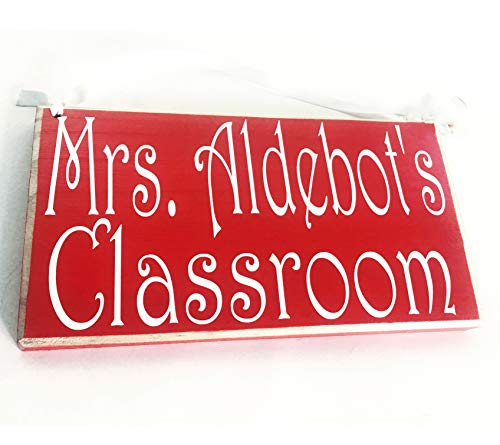 teacher sign for doors 10x6 Teacher Classroom Name Custom Wood Sign Personalized Counselor Teach Class Student Class in Session Back to School Supplies Door Plaque