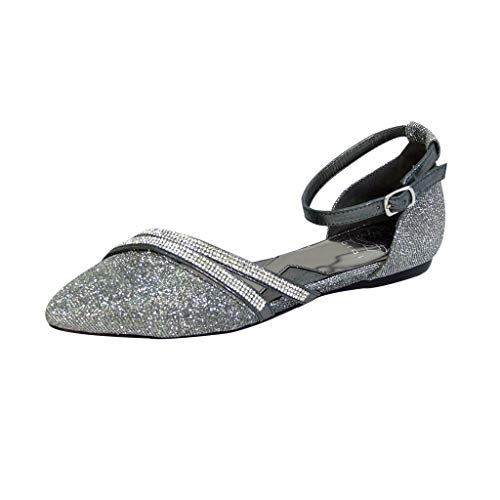 Top 10 best selling list for pewter flat wedding shoes