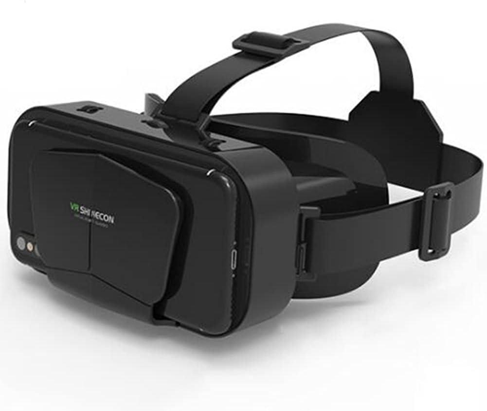 WM-MSMY Gafas VR, 3D VR Gafas De Realidad Virtual VR Glasses Visión Panorámico 360 Grado Película 3D Juego Immersivo para Móviles 4.7-6.6 Pulgada para Regalo para Niños Y Adultos