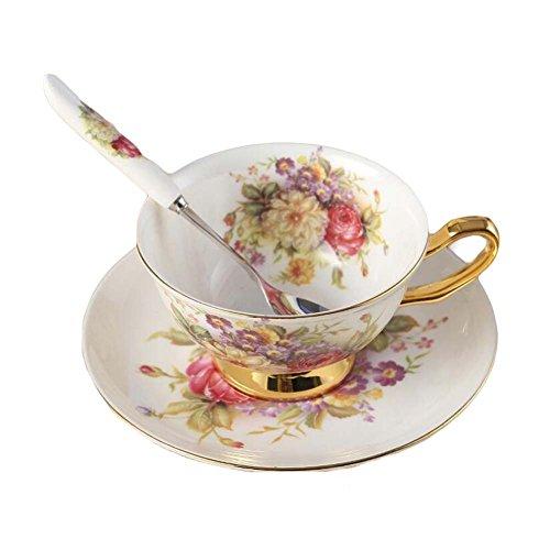 Blancho Tea Time kopp/fat/sked set kaffekopp set porslin tekopp keramisk mugg 2 dl