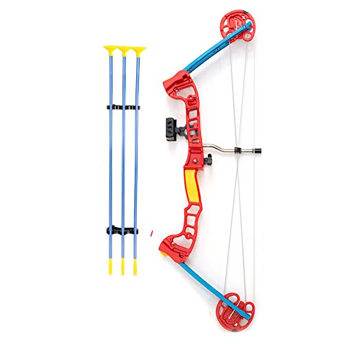 Compound Bow and Arrow | Kids Archery Set | Compound Bow with 3 Suction Cup Arrows | Practice & Play Bow Hunting Indoor & Outdoor | Toy Bow and Arrow (Compound Bow)