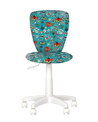Silla Expert Polly-Silla de escritorio infantil con volante de 360 grados de altura regulable, respaldo ajustable, asiento ajustable en profundidad (CM1)
