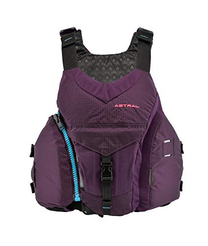 Astral Women's Layla Life Jacket PFD for Whitewater, Sea, Touring Kayaking, Stand Up Paddle Boarding, and Fishing, Eggplant, S/M