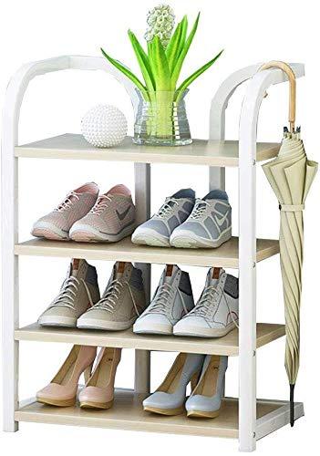 NYDZDM schoenenkast 50cm brede planken Organizer Verticale plank Organizer Frame Gemaakt van Tinplate + Houten Board, Ideaal voor hal, badkamer, woonkamer en hal