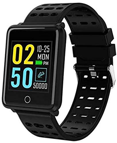 SportSmart impermeabile Uomini Donne Fitness Tracker elettronico intelligente Orologio nero,nero