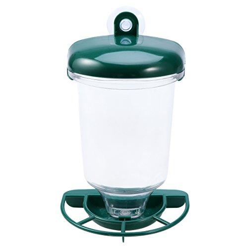 UEETEK Vogelfutterspender mit Saugnapf, Wasserspender Futterspender für Vogel Papagei