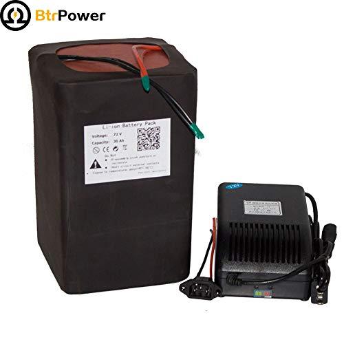 72v 30ah Ebike Batterien für 2200W Elektro-Roller, Lithium-LiFeo4 Akku mit 5A-Ladegerät BMS