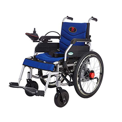 FTFTO Home Accessories Elderly Disabled Electric Wheelchair Manual Electric Dual-Use Hand Push Disabled Elderly Folding Portable Scooter Load 120Kg Wheelchair