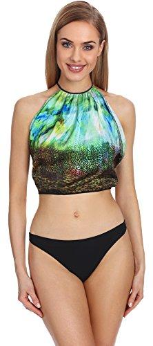 Merry Style Conjunto Bikini Sujetador y Bragas Bañador 2 Piezas Mujer P604-63EX (Patrón-1, EU(40)=ES(42))