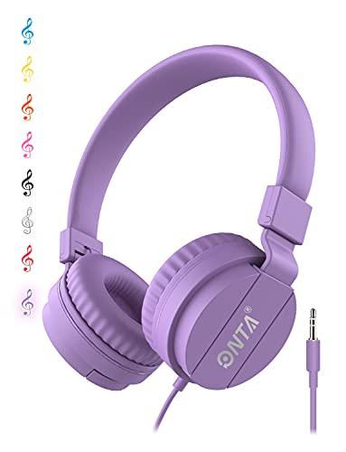 ONTA® Plegable Auriculares De Audio Ajustable Ligero Auriculares para Niños Teléfonos Móviles...