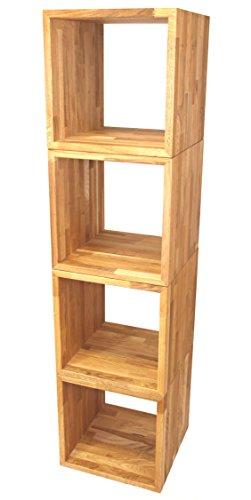 4er-Set - Würfel, Kubus ca. 45x45x45cm groß, aus extra dickem Massivholz Eiche geölt, Cube, Beistelltisch, Hocker, Kubus, echtes Holz