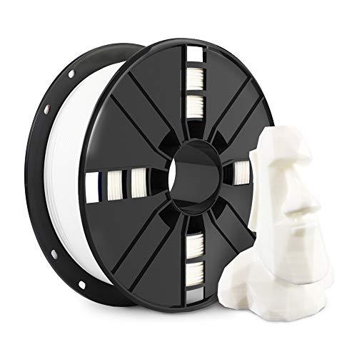 NOVAMAKER 3D Printer Filament - White 1.75mm PLA Filament, PLA 1kg(2.2lbs), Dimensional Accuracy +/- 0.03mm