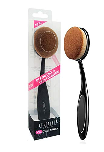 Beautia Oval Makeup Brush Set, Foundation, Concealer. Contouring Makeup Tools (3pcs Set 59110)