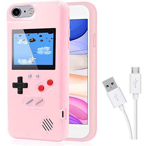 Dikkar Game Hülle für iPhone, Retro-Schutzhülle mit Eigener Stromversorgung,36 Kleine Spiele,Farbdisplay,Videospieletui für iPhone 12/11/Pro/MAX/12Mini/X/Xs/MAX/Xr/6s/7/8/Plus