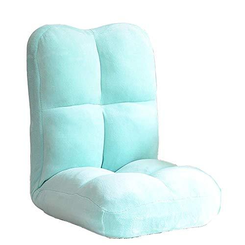Reposapiés y otomanos peque Lazy Couch Chair, Floor Plegable Sofa Sofa 5 Posiciones Acojinada Ajustable Lazy Sleeper...