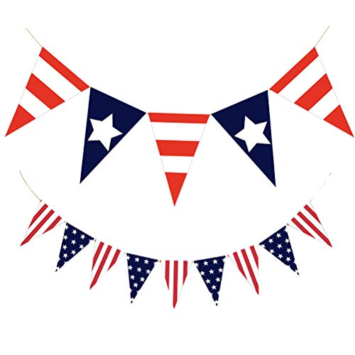 VALICLUD Garland America Independence Day Garland Bunting Banner Pennant Set Party Decoration Photo Prop