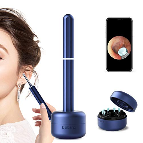 Bebird x17 pro Ear Cleaner Earwax Remover Otoscope,Ear Endoscope,1080P Ear Camera,All Aluminum Alloy Body,Classical Ceremony Box,6-axis Gyroscope Suit iOS,iPad & Android Smart Phones(Gold/Blue)