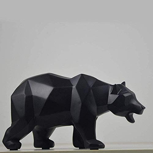 KUPR Sculptures Doll Resin Black Bear Statue Decoration Gift Crafts TV Cabinet Office Statue Decoration Garden Statue