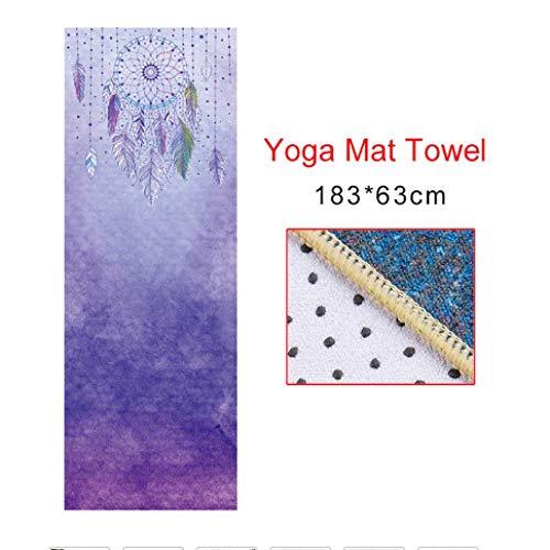 N / A 2020 Neue Produkteinführung 5 Arten von bedruckten Yogamatten Handtuch Umweltschutz Schweiß Mikrofaser Yoga Decke bedeckt rutschfeste Fitnessraum Pilates Sportmatte 183 cm x 63 cm