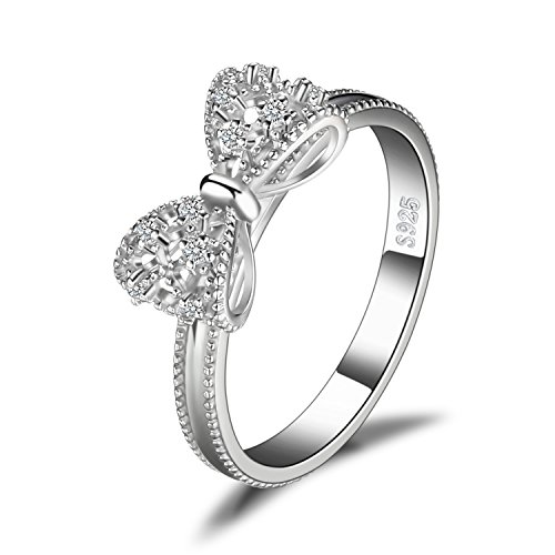 JewelryPalace Bow Cubic Zirconia...