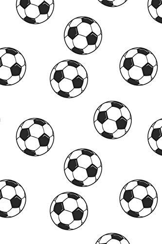 Fussball Muster - Torhüter Stürmer Fans Verein 09: Unliniertes Notizbuch mit Rahmen für Fußballspieler und Fußballfans