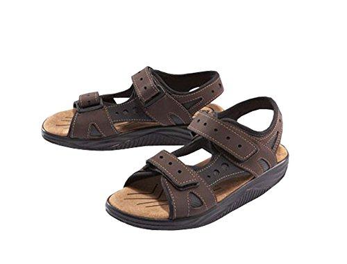 Damen Aktiv Sandalen Sommer Aktivschuhe Schuhe Freizeitschuhe Abrollbewegung Sandalen (Braun, 39)