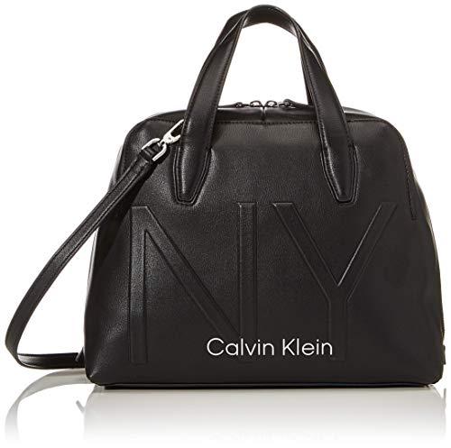 Calvin Klein Shaped Duffle - Borse Tote Donna, Nero (Black), 15x23x32...