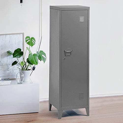 WarmCentre - Armario organizador de armario de metal con 3 puertas, 137 cm de altura
