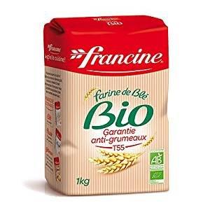 Francine Farine de Ble Bio - French All Purpose Organic Wheat Flour - 2.2 lbs (Pack of 6)