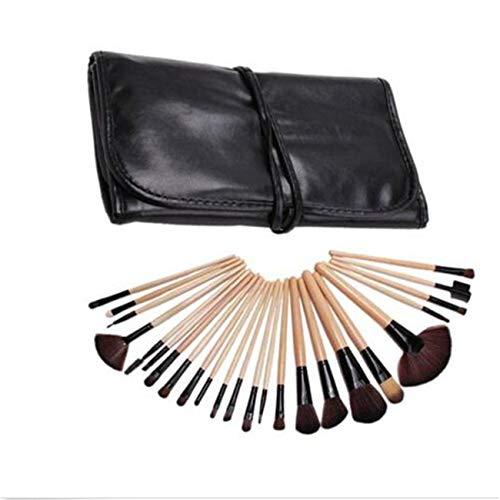 ZALING 24Pcs Pinceaux De Maquillage Professionnels Mis En Place Des Outils De Beauté Fondation Brosses Multifonctionnelles Pour Le Visage