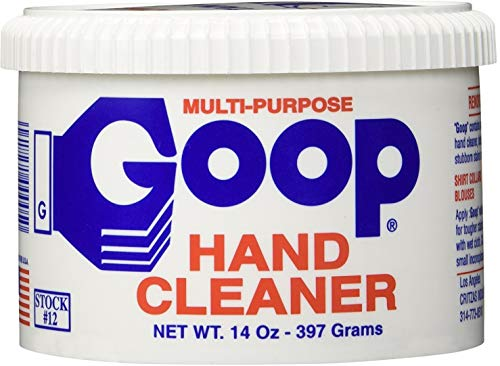 Goop Hand Cleaner and Laundry Stain Lifter Remover (Pack of 2) 14 oz, Waterless, Non-Toxic and Biodegradable, Removes Grease, Grass, Tar, Blood, Paint, Dirt, Mud