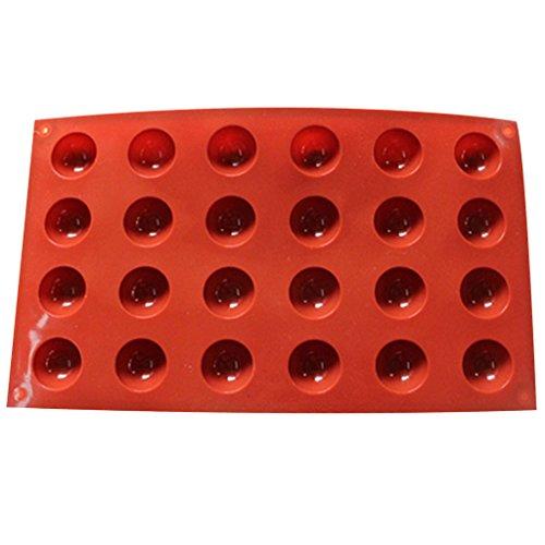 Yintiod 24 holle ruimtes grote hemelsfeer chocolade siliconen bakvorm cake dome vorm dienblad