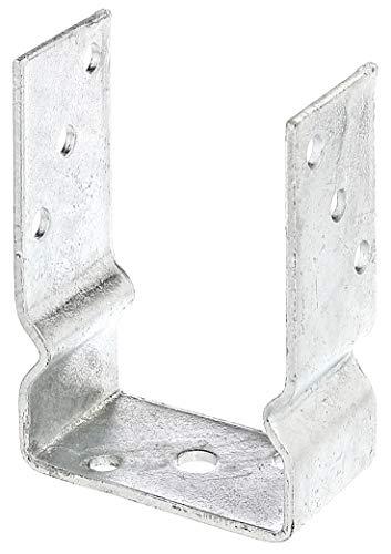 GAH-Alberts 217631 U-Pfostenträger | zum Aufschrauben oder zum Einbetonieren | feuerverzinkt | lichte Breite 101 mm
