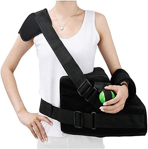 AY Tragbare Armschlinge, Verstellbarer Schulter-Immobilisator unterstützt Rotator-Manschettenstütze-Brace-Schulter-Abduktionskissen für link rechts Arm Reduzieren Sie Schmerzen/Müdigkeit