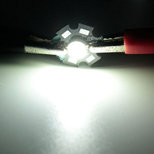 MASUNN 1W Hochleistungs-LED PCB Birne Perlen Chips Auto Indoor Lampe Aquarium Kühlkörper-Cool White