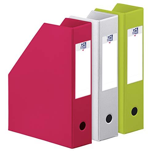 OXFORD Color Life Tonic Lot de 3 Porte-revues PVC Dos 7 cm - Coloris aléatoire