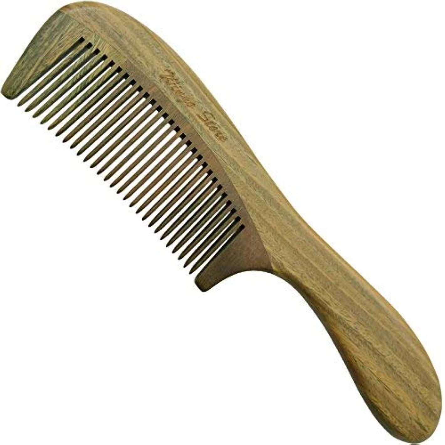 コンテストリアルルーフWingostore Wood Hair Comb Handmade (Handle-Green Sandlewood) [並行輸入品]