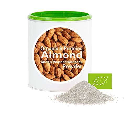 Mandelprotein Pulver – Bio Mandeln gemahlen | bio organic| good-proteins von good-nutritions| ohne zusatzstoffe + viele Inhaltsstoffe| 150 g
