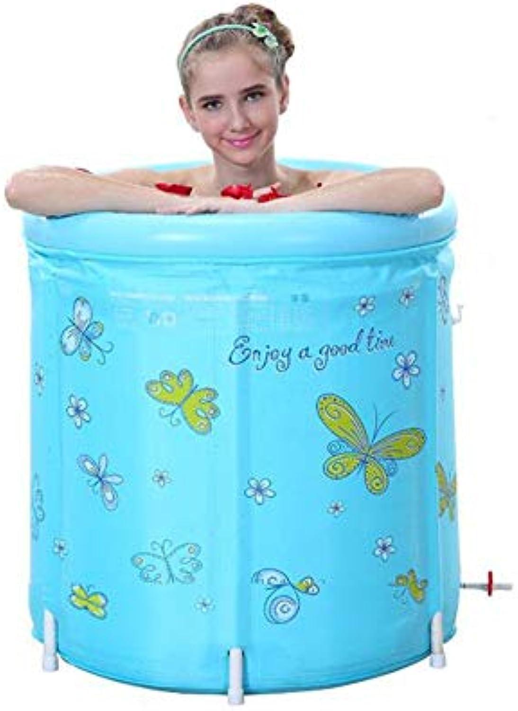 EUNADINAWENHUA Aufblasbare Badewanne Faltbare Badewanne für Erwachsene für Kinder, erhltlich für Vier Jahreszeiten Luftbder für Wohnzimmer (Farbe   Blau)