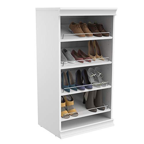ClosetMaid 4566 Modular Closet Storage Stackable Shoe Shelf Unit- White