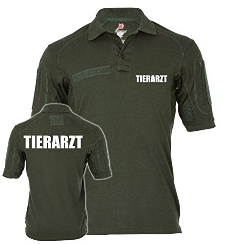 Copytec Tactical Polo Alfa Tierarzt Praxis Doktor Tierklinik Berufsbekleidung #23335, Größe:L, Farbe:Oliv