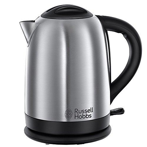 Russell Hobbs Oxford 20090-70 Wasserkocher mit Schnellkochfunktion (2,4 kW) silber / schwarz