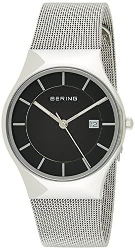 BERING Reloj Analógico Classic Collection para Hombre de Cuarzo con Correa en Acero Inoxidable y Cristal de Zafiro 11938-002