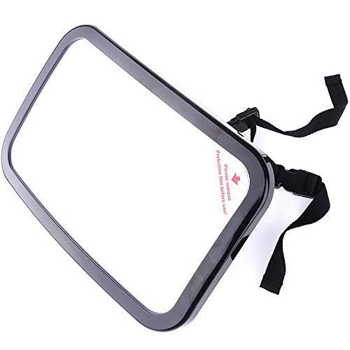 espejo retrovisor de seguridad para bebés, espejo de observación para niños, ajustable a 360 grados, ventosa en el parabrisas / clip en el parasol del automóvil, fácil de instalar en el reposacabezas