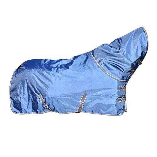 Tubayia Manta impermeable para caballos, para invierno, suave, para invierno, color azul, 145 cm