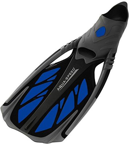 Aqua Speed INOX Unisex Flossen für bequemes Schnorcheln Tauchen Schwimmen | Taucherflossen | Schwimmflossen | Schnorchelflossen, grau/blau, 40/41