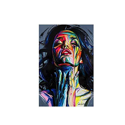YANGMENGDAN Impression sur Toile Mur Art Affiche Visage Peinture à l'huile Françoise Sty Couleur DH Impressions sur Toile Abstraite peintures sur Toile Photo pour Salon 40x60 cm x1 pcs sans Cadre